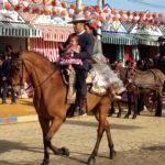 eria de Sevilla -Famille à Cheval